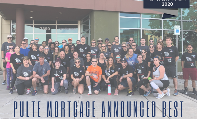 Pulte Mortgage Named a 2020 Best Mortgage Company to Work For