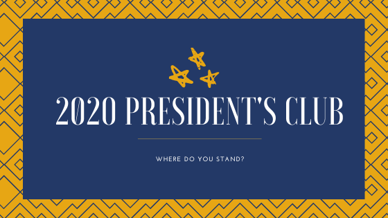 President's Club Update (As of October 2020)