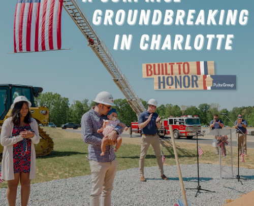 A Surprise Groundbreaking for U.S. Army Sergeant First Class Carl Roush in Charlotte, NC