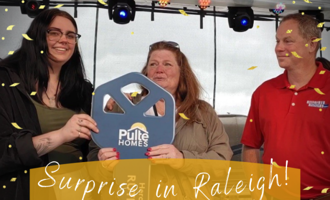 Raleigh Surprises a Gold Star Family